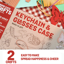 Load image into Gallery viewer, Chalk & Chuckles Keychain and Glasses Activity Game