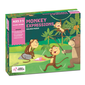 Chalk & Chuckles Monkey Expression Feelings Puzzle Game