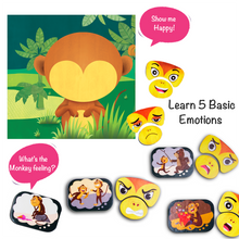 Load image into Gallery viewer, Chalk & Chuckles Monkey Expression Feelings Puzzle Game