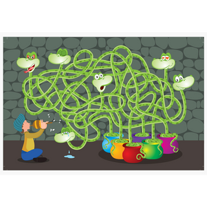 Chalk & Chuckles Moody Snakes Maze and Puzzle Game