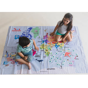 CocoMoco Hop Around The World Map Educational Game