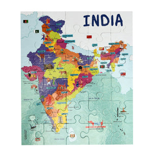 CocoMoco India Map Jigsaw Puzzle Game