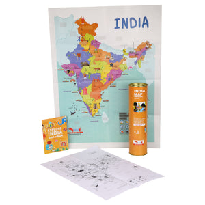CocoMoco India Map With Sticker Educational Toy