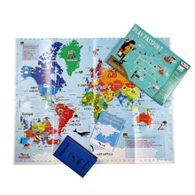 Load image into Gallery viewer, CocoMoco Play Passport Sticker Activity Kit Educational Toy