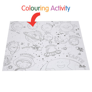 CocoMoco Solar System Puzzle With Colouring Puzzle Game