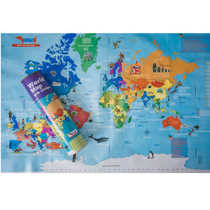 CocoMoco World Map With Sticker Educational Toy