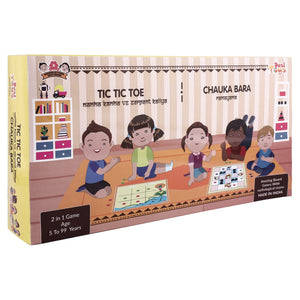 Buy Desi Toys Tic Tac Toe and Chauka Bara 2 in 1 Strategy Board Game - GiftWaley.com