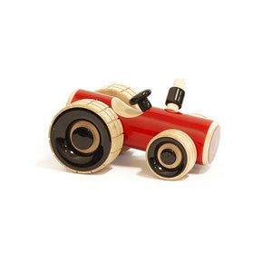 Buy Fairkraft Colourful Wooden Tractor Push Toy - Trako - GiftWaley.com