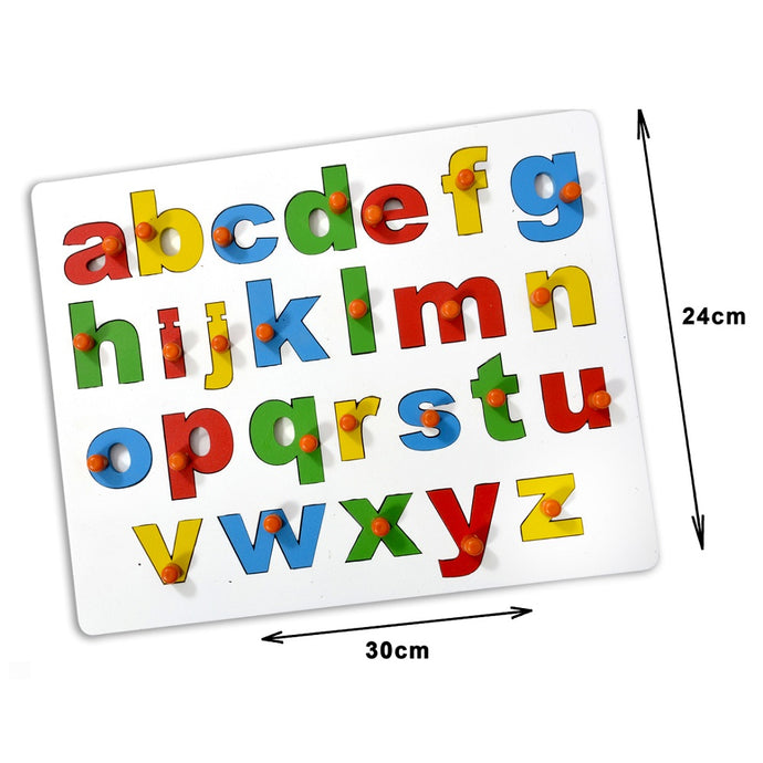 English Alphabet Small ABC Insert Learning Board