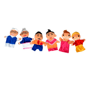 Kidken Family Hand Puppet - Set Of 6