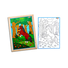 Load image into Gallery viewer, Horse Jigsaw Puzzle With Colouring Sheet