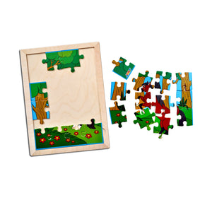 Horse Jigsaw Puzzle With Colouring Sheet