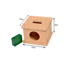 Load image into Gallery viewer, Kidken Imbucare Box With Rectangular Hole Wooden Toy