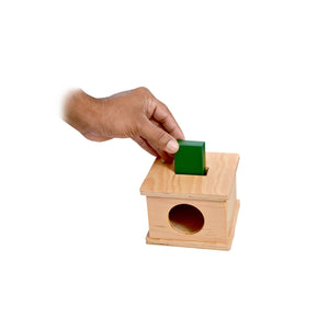 Kidken Imbucare Box With Rectangular Hole Wooden Toy