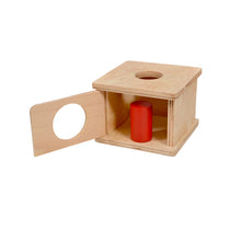 Load image into Gallery viewer, Kidken Imbucare Box with Large Cylinder Wooden Toy