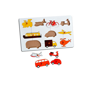Kidken Montessori Insert Board Learning Board - Vehicles