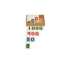 Load image into Gallery viewer, Kidken Montessori Large Number Cards 1 to 1000 Learning Box