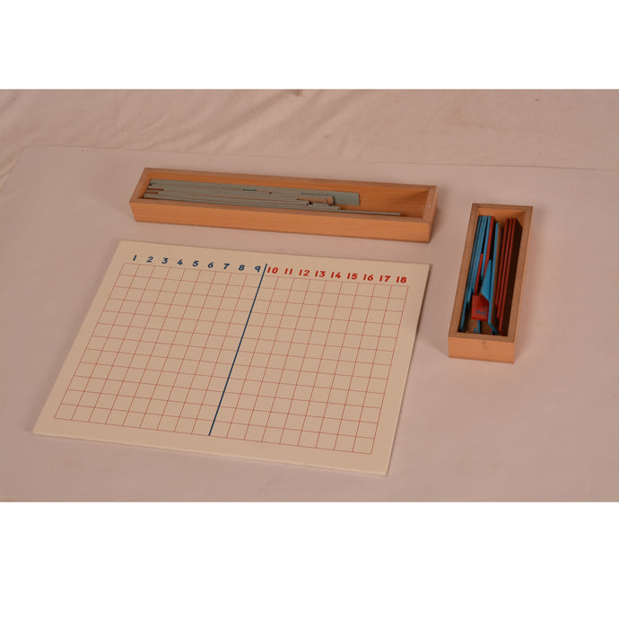 Montessori Materials Subtraction Strip Learning Board