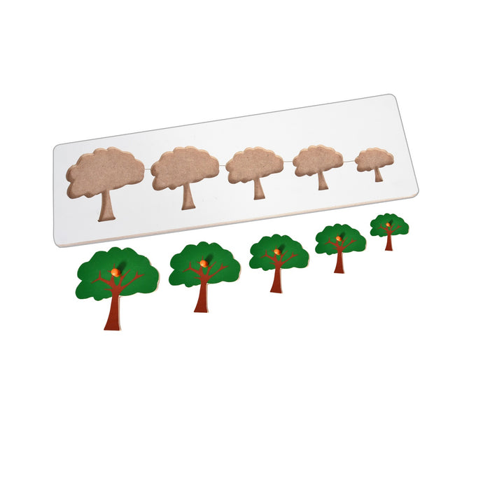 Kidken Montessori Size Variation Inset Learning Board - Tree