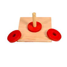 Load image into Gallery viewer, Montessori Toddler Discs on Vertical dowel Stacker Toy