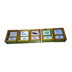 Kidken Montessori Vowel Print Learning Box