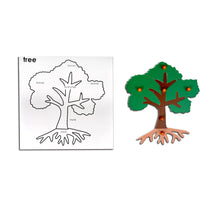 Load image into Gallery viewer, Kidken Montessori Wooden Tree Puzzle Game