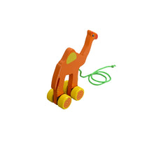 Load image into Gallery viewer, Kidken Pull Along Camel Wooden Toy