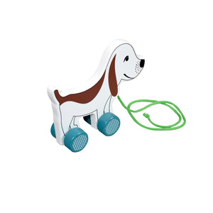 Kidken Pull Along Dog Wooden Toy