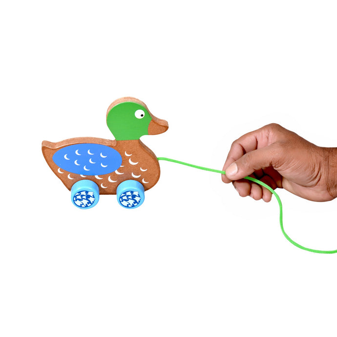 Pull Along Duck Wooden Toy