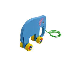 Kidken Pull Along Elephant Wooden Toy