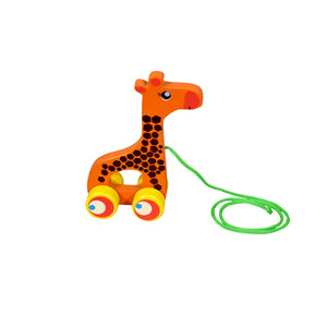 Kidken Pull Along Giraffe Wooden Toy