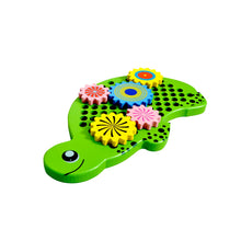Load image into Gallery viewer, Kidken Tortoise Gear Wooden Toy