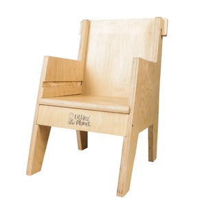 Buy Littles' Planet Montessori Wooden Table and Chair - Chair Position - GiftWaley.com