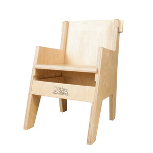 Buy Littles' Planet Montessori Wooden Table and Chair - Chair Position 2 - GiftWaley.com