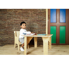 Load image into Gallery viewer, Buy Littles' Planet Montessori Wooden Table and Chair - Child Play - GiftWaley.com