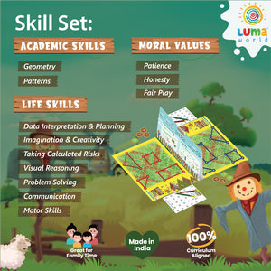 Buy Luma World Guess the Fence Creative Board Game - Features - GiftWaley.com