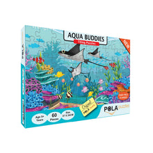 Load image into Gallery viewer, Pola Puzzles Aqua Buddies 60 Pieces Tiling Puzzles