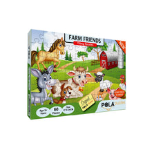 Load image into Gallery viewer, Pola Puzzles Farm Friends 60 Pieces Tiling Puzzles