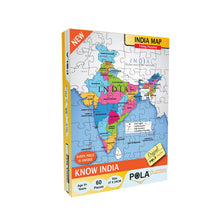 Load image into Gallery viewer, Pola Puzzles India Map 60 Pieces Tiling Puzzles