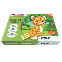 Load image into Gallery viewer, Pola Puzzles Jungle Cheetah Circular 60 Pieces Tiling Puzzles