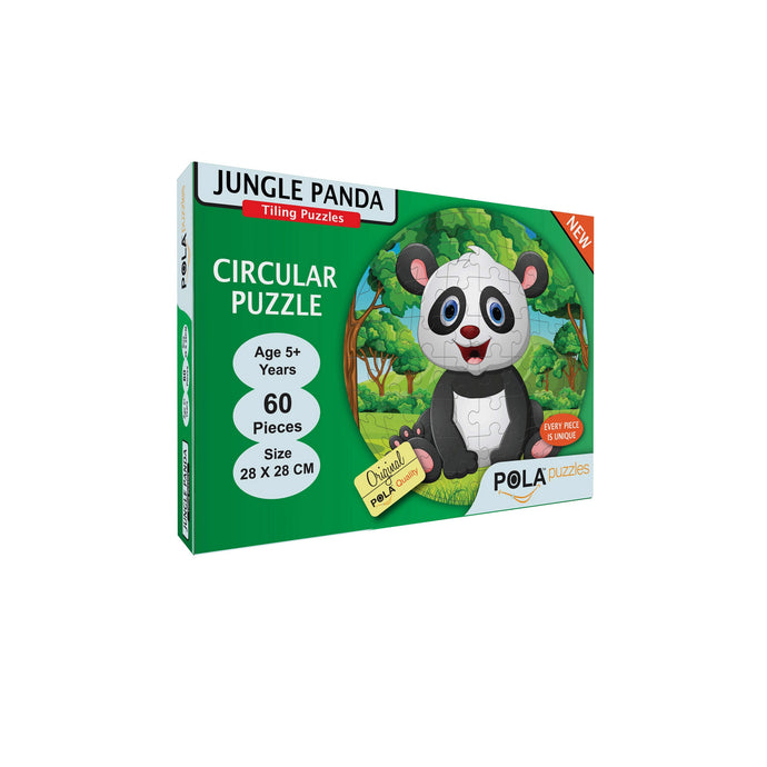 Pola Puzzles Jungle Panda Circular 60 Pieces Tiling Puzzles