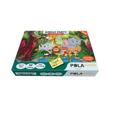 Load image into Gallery viewer, Pola Puzzles Jungle Party 60 Pieces Tiling Puzzles