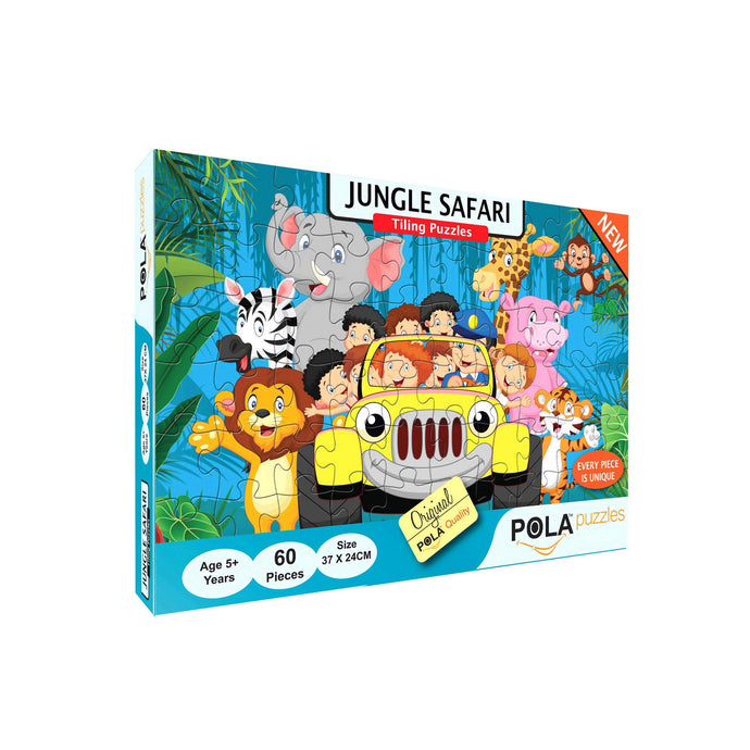 Pola Puzzles Jungle Safari 60 Pieces Tiling Puzzles