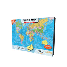 Load image into Gallery viewer, Pola Puzzles World Map 60 Pieces Tiling Puzzles