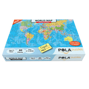 Pola Puzzles World Map 60 Pieces Tiling Puzzles