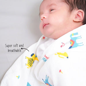 "Buy Rabitat Bamboo Swaddle Wrapper Soft 47""x47"" (Born Awesome) - GiftWaley.com"