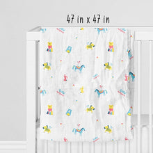 "Load image into Gallery viewer, Buy Rabitat Bamboo Swaddle Wrapper Soft 47""x47"" (Born Awesome) - GiftWaley.com"