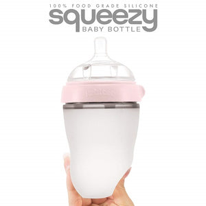 Buy Rabitat Squeezy Silicone Feeding Bottle 250ml - GiftWaley.com
