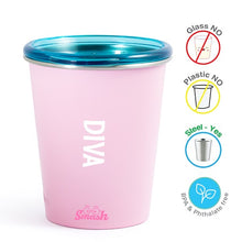Load image into Gallery viewer, Buy Rabitat Stainless Steel Tumbler with Training Lid - Diva - GiftWaley.com