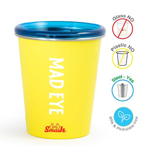 Buy Rabitat Stainless Steel Tumbler with Training Lid - Mad Eye - GiftWaley.com